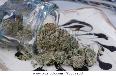 Silver Afghan Medical Marijuana Close up