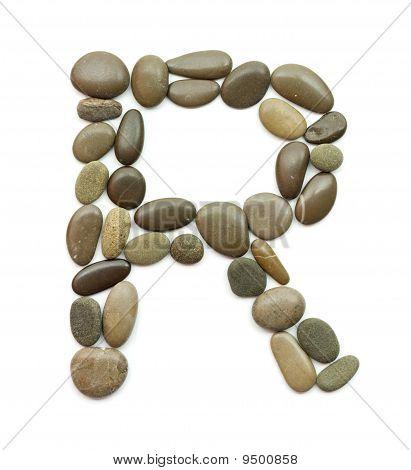 path alphabet of ocean stones