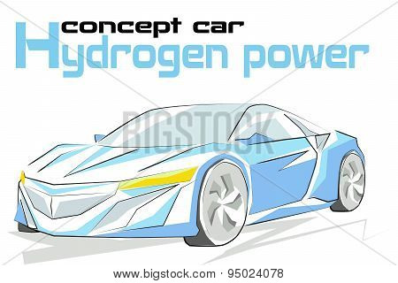 Concept car hydrogen power