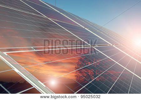 Solar Battery Closeup