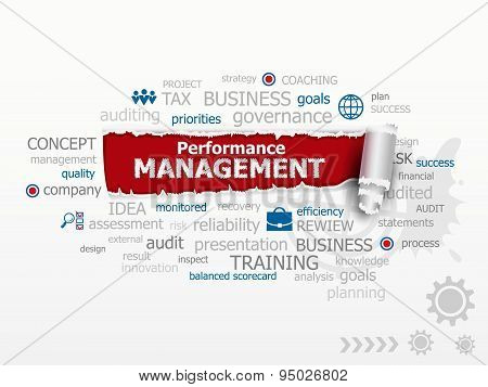 Performance Management Concept Word Cloud.