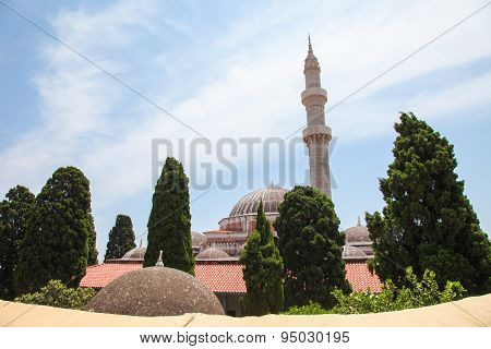 Mosque Of Suleiman In Rhodes, Greece