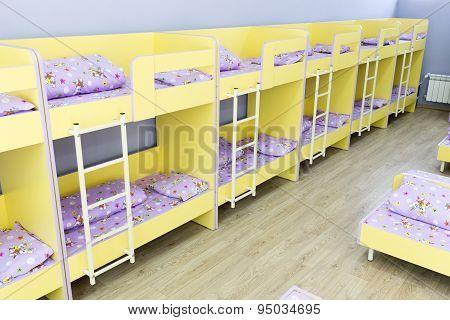 Modern Kindergarten Bedroom With Small Beds