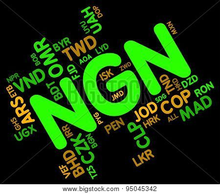 Ngn Currency Represents Nigeria Naira And Exchange