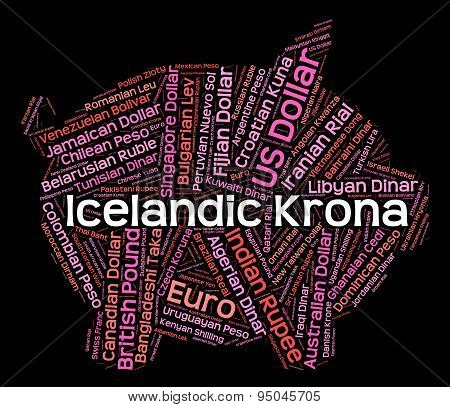 Icelandic Krona Shows Worldwide Trading And Broker