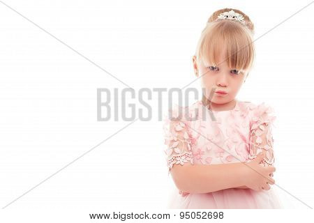 Little girl showing offence