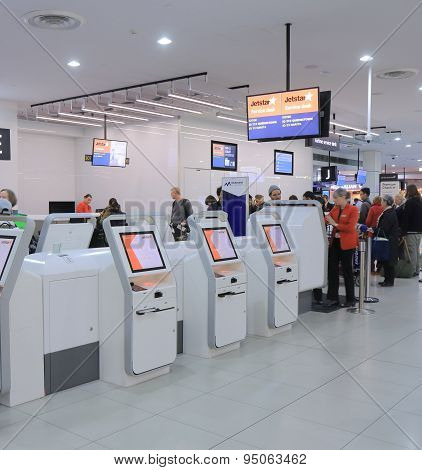 Jetstar self check in Melbourne airport