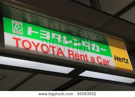 Toyota rent a car Hertz car hire Japan