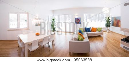 Light Interior With Color Decors