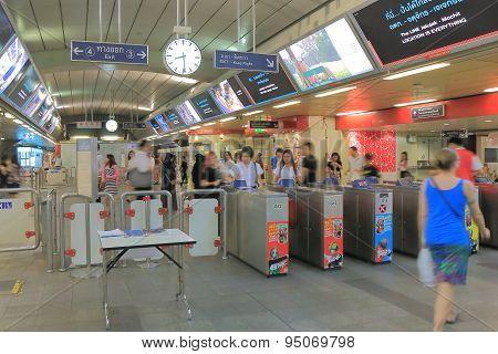 Bangkok BTS station commuters