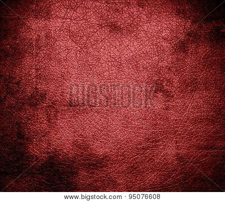 Grunge background of bittersweet shimmer leather texture