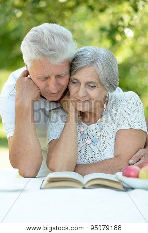 Beautiful happy old couple