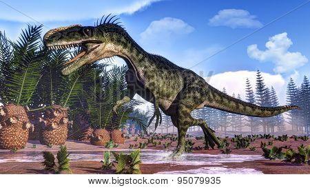 Monolophosaurus dinosaur - 3D render