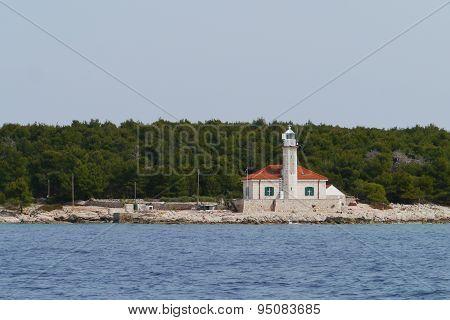 The Croatian lighthouse on cape Razanj