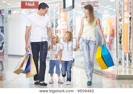 Shopping In A Store
