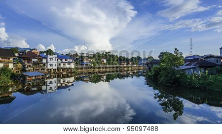 River View and water refection