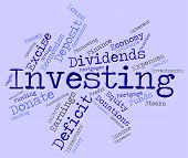 Investing Word Showing Return On Investment And Growth Portfolio poster