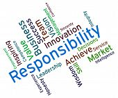 Responsibility Words Representing Duty Obligation And Accountable poster