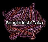 Bangladeshi Taka Showing Exchange Rate And Coinage poster