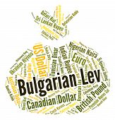 Bulgarian Lev Indicates Foreign Exchange And Coin poster