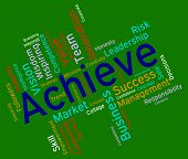 Achieve Words Indicating Improvement Triumphant And Prevail poster