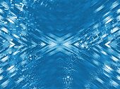 abstract blue digital flow information cross background poster