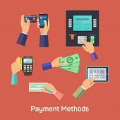 Vector possibilities of payment methods, eps 10 poster