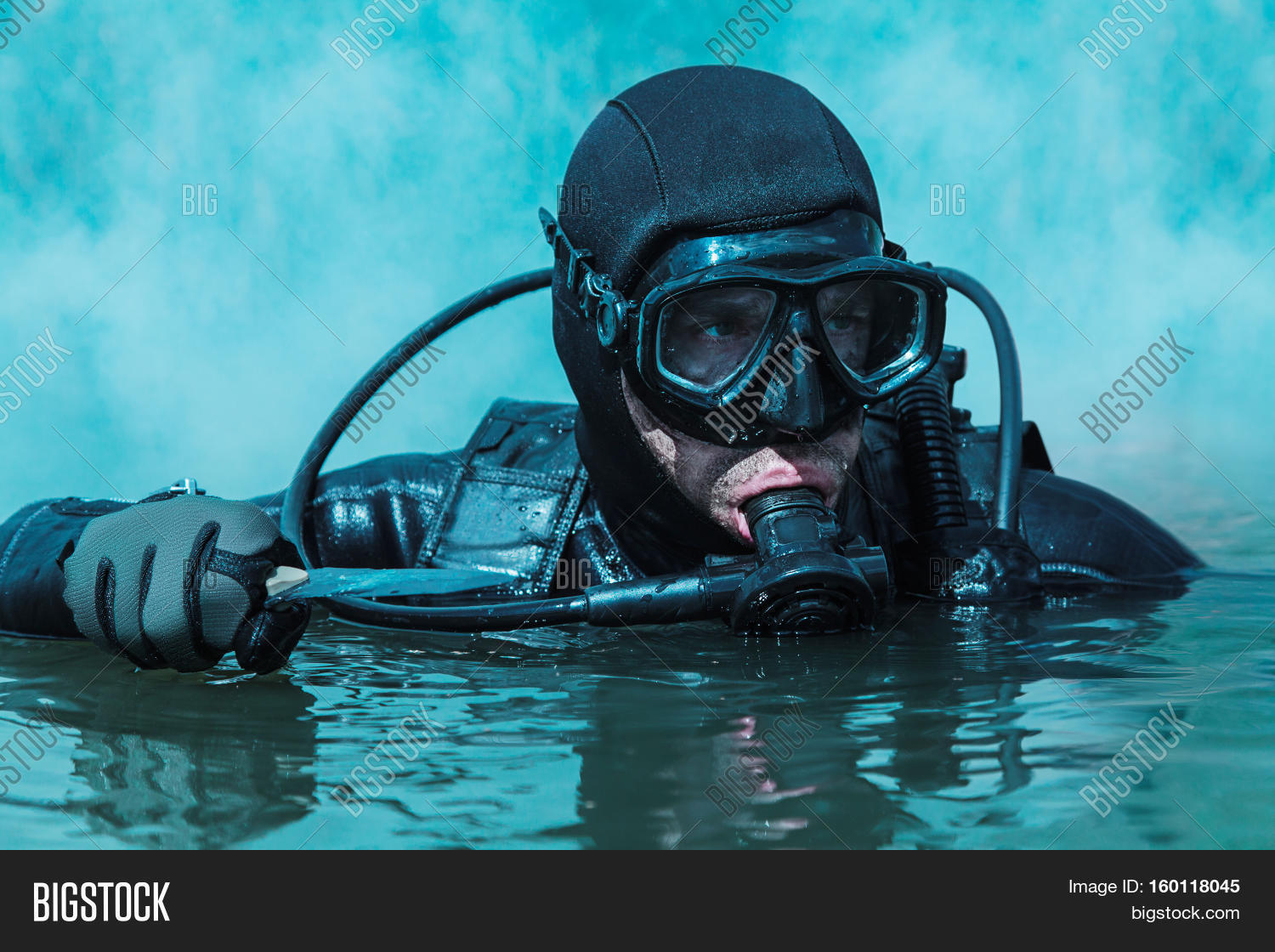 Navy seal frogman complete diving image photo bigstock - Navy seal dive gear ...
