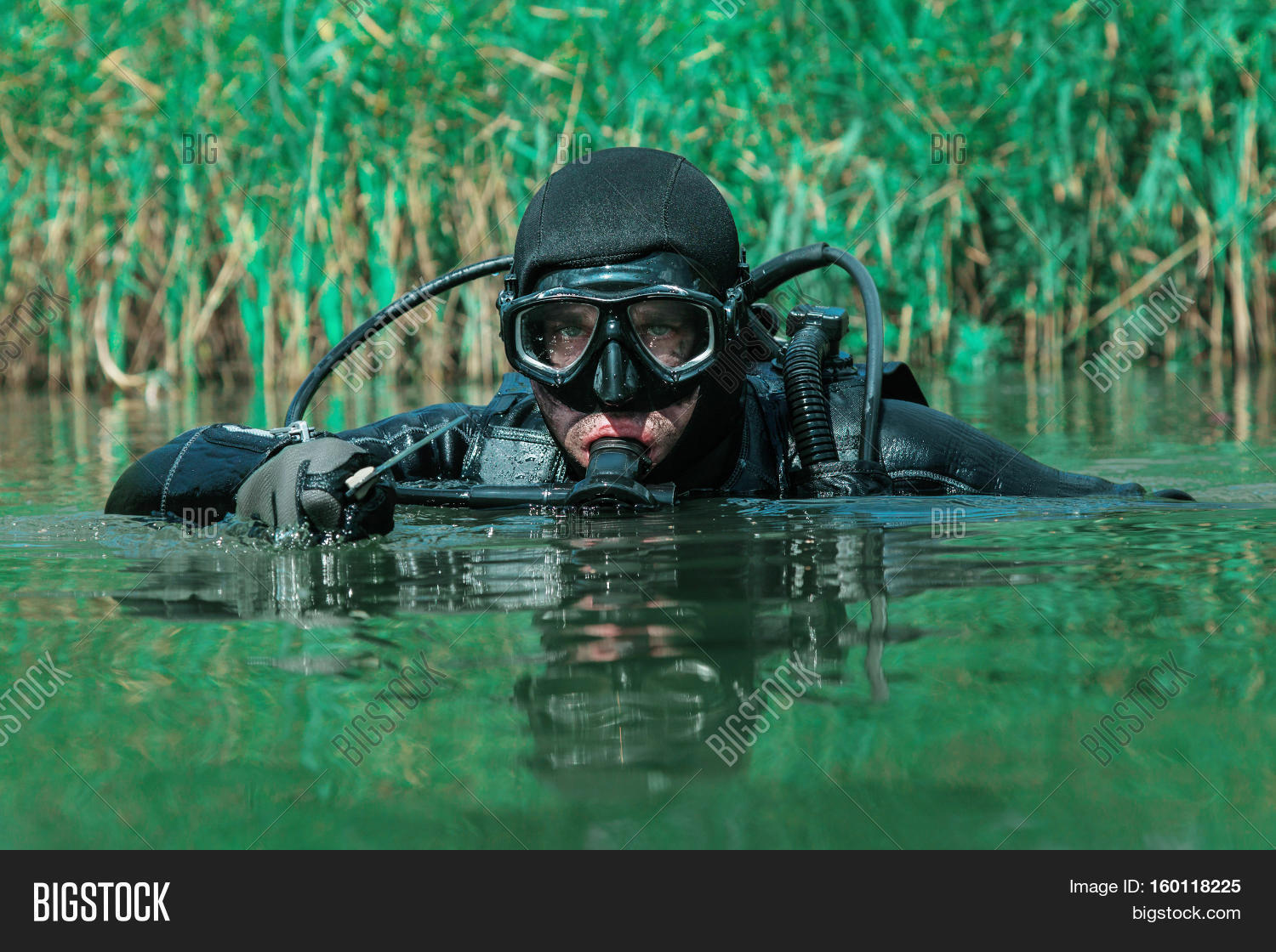 Navy SEAL Frogman Image & Photo (Free Trial) | Bigstock  |Navy Seals Emerging From Water