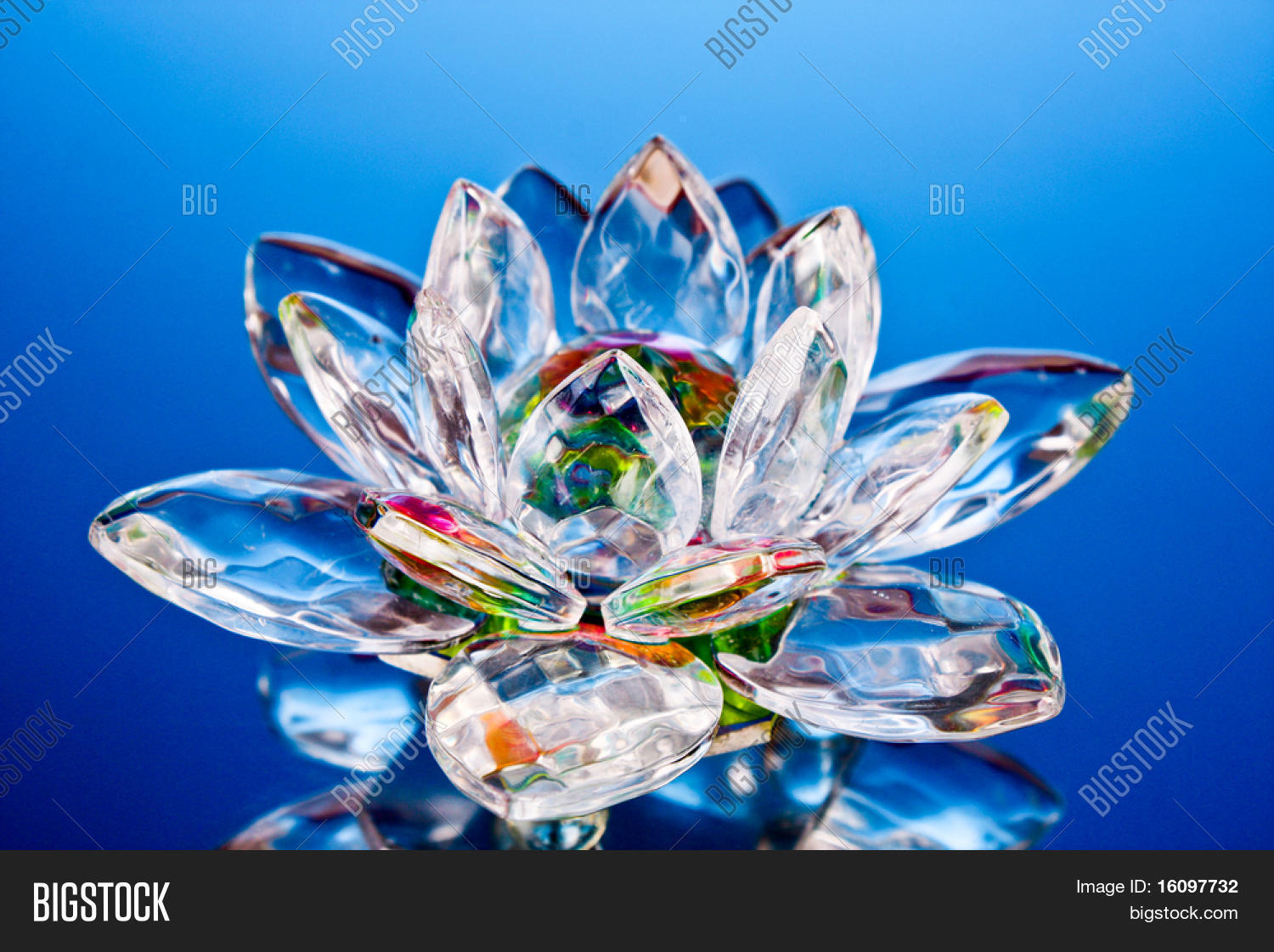 Glass Lotus Flower On Image Photo Free Trial Bigstock