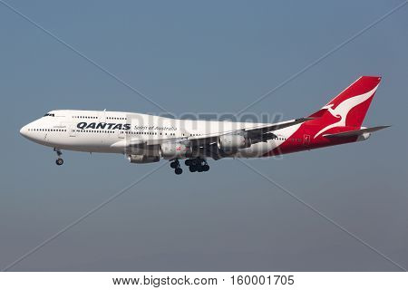 Qantas Boeing 747-400 Airplane