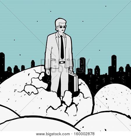 New Businessman Vector Illustration eps 8 file format