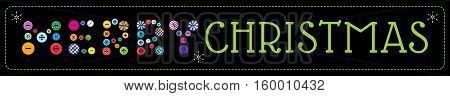 Vector illustration. Label with greeting