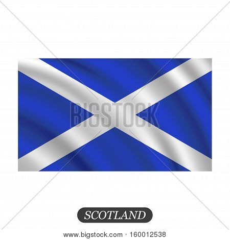 Waving Scotland flag on a white background. Vector illustration