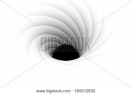 black hole with a sphere inside 3d illustration
