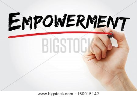 Hand Writing Empowerment With Marker