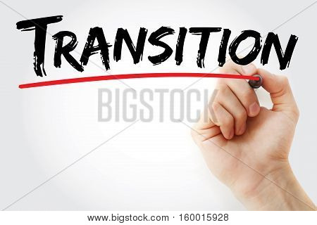 Hand Writing Transition With Marker