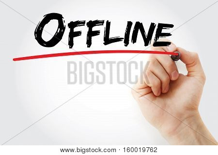 Hand Writing Offline With Marker