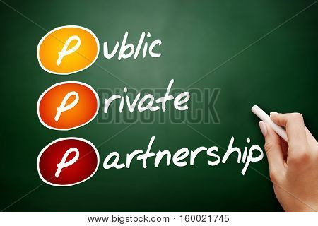 Hand Drawn Ppp - Public-private Partnership