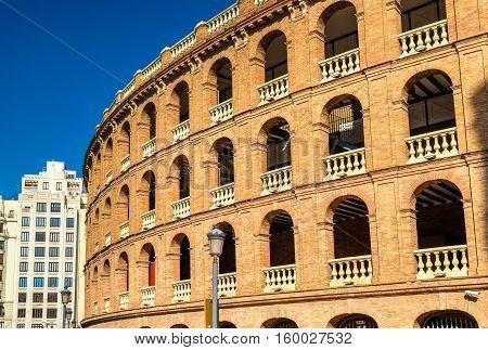 Plaza de Toros, a bullfighting arena in Valencia, Spain. Opened in 1859