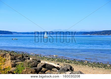 Tacoma Waterfront With Panoramic View