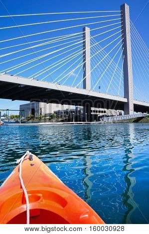 Tacoma Downtown From The Water While Kayaking