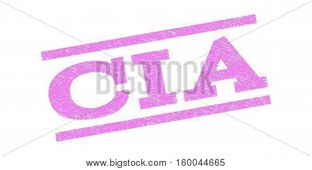 CIA watermark stamp. Text tag between parallel lines with grunge design style. Rubber seal stamp with unclean texture. Vector violet color ink imprint on a white background.