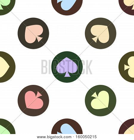 seamless pattern. EPS 10 vector illustration. used for printing websites design interior fabrics etc. multi-colored shovel on colorful circles