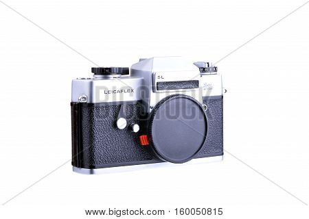 PANAMA PANAMA - JULY 30 2015: The Leicaflex was the first series of 35mm single lens reflex cameras manufactured by Leitz