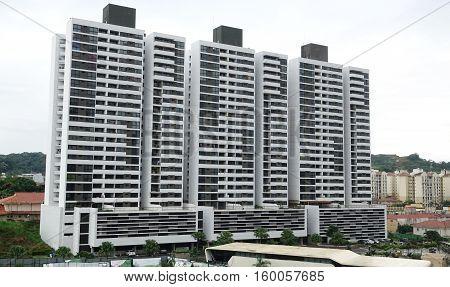 Modern residential towers in Panama City Panama