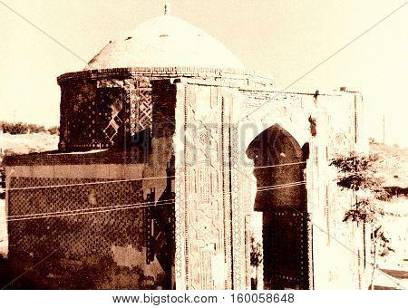 Mausoleum of Shakhi-Zindah Ensemble in Samarqand Uzbekistan 1962