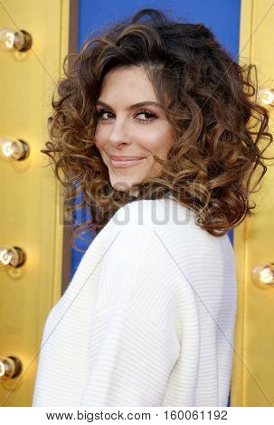 Maria Menounos at the Los Angeles premiere of 'Sing' held at the Microsoft Theater in Los Angeles, USA on December 3, 2016.