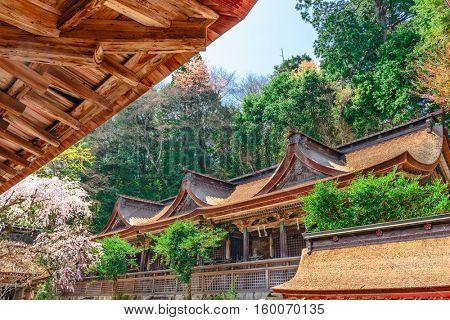 Temple in Yoshinoyama, Nara, Japan.