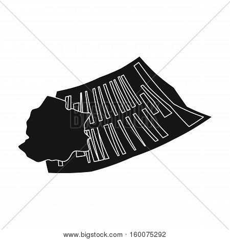 Crumpled paper icon in black style isolated on white background. Trash and garbage symbol vector illustration.
